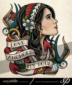 Gypsy Love Anchors My Soul Tattoo by Sam-Phillips-NZ on DeviantArt