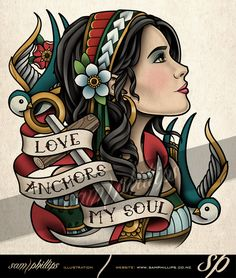 Gypsy Love Anchors My Soul Tattoo by Sam-Phillips-NZ on DeviantArt