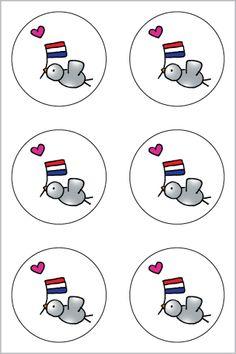 Stickers Hollandse duif www.hipenstipkaarten.nl