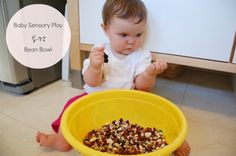 Baby Sensory Play: Bean Bowl. From Tinkerlab.com, Creative Experiments for Kids