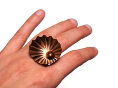 "Shell Ring Vintage ""Beyond the Sea"" by ChatterBlossom on Etsy"