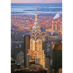 size: Stretched Canvas Print: Chrysler Dawn by The Chelsea Collection : Entertainment Using advanced technology, we print the image directly onto canvas, stretch it onto support bars, and finish it with hand-painted edges and a protective coating. Work In New York, Chrysler Building, Painting Edges, Stretched Canvas Prints, Empire State, Find Art, New York City, Giclee Print, Chelsea