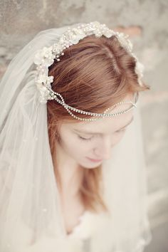 Headpiece + Veil: HF Couture - A Bride on the Streets of Venice from Katy Lunsford Photography