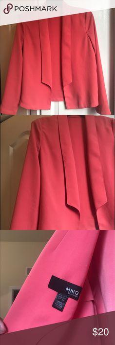 MNG Mango Pink Lightweight Blazer Overcoat Sz XS Perfect condition, very pretty pink jacket/blazer, size x-small! Mango Jackets & Coats Blazers