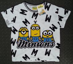 Primark Minions T-Shirt Despicable Me PJ Ladies Top New Sizes 6 - 20