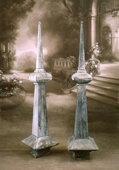 Spectacular Antique French Zinc Roof Top Finial W/Mercury Glass | Zinc Roof,  Roof Top And Mercury Glass