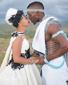 Spiffy Fashion New Xhosa Traditional Wedding Dresses - African Traditional Wedding, Traditional Wedding Dresses, African Love, African Beauty, My Black Is Beautiful, Black Love, Zulu, Xhosa Attire, Couple Noir