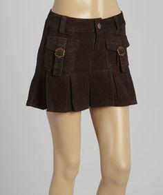 Chocolate Cargo Mini Skirt by be-girl #zulily #zulilyfinds