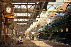 railways art - Buscar con Google