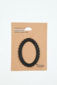 baroque black magnetic photo frame $2.50 Typo