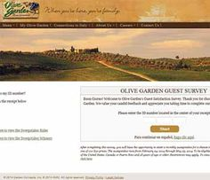 $1,000 Weekly Sweepstakes Olive Garden Survey
