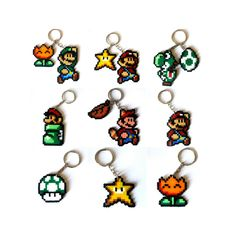 SUPER MARIO BROS sprites keyrings broochs magnets Big