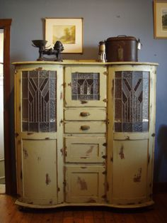 deco kitchen cabinet, the stories she could tell...