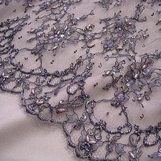 french metallic lace