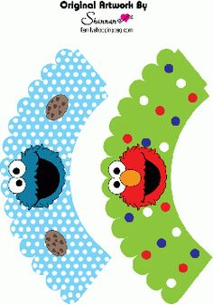 Printable Sesame Street cupcake wrappers