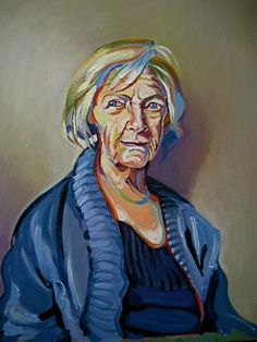 Portrait of Cis Berry MBE by Hugo - Use the 'Create Similar' button to commission an artist to create your own artwork.