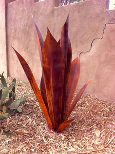Massive Agave Ready for Tequila, Metal Yard Art,Metal Garden Sculpture, Metal Cactus, Metal Agave, Garden Decor, Southwestern by TopangaPatina on Etsy https://www.etsy.com/listing/230925628/massive-agave-ready-for-tequila-metal