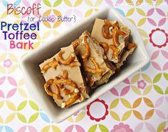 Biscoff Pretzel Toffee Bark