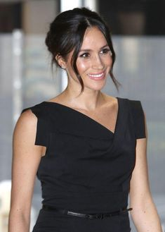 Check out 35 times Meghan Markle's hair made us totally jealous. While Meghan attended the Women's Empowerment reception at the Royal Aeronautical Society in London, she wore this pretty updo. We love the two wavy pieces of hair that frame her face. #royals #celebritystyle #meghanmarkle