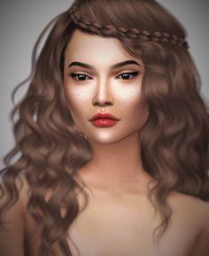 Rylie Vaughan. Genetics Hair: @aveirasims [xx] Skin tone: @kijiko-sims [xx] Skin mask: @s4models [xx] Freckles: Tifa [xx] Eyes: @mia8sims [xx] Eyebrows: @alf-si [xx] Eyelashes: @kijiko-sims [xx] Cosmetics Eyeliner: @alf-si [xx] Lips: @shojoangel...