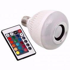 51b46f8b8 Lampada Led 6w Rgb Caixa Som Bluetooth 2 Em 1 Mp3 Music Bulb - Bk imports
