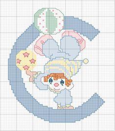 Schema punto croce C-clown