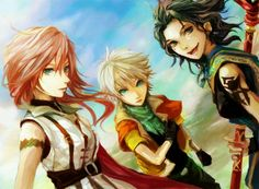 Lightning, Hope, and Fang - Final Fantasy XIII