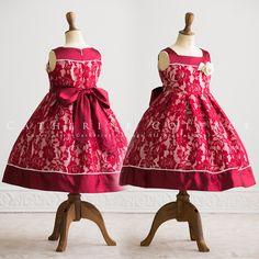 商品番号: PC615 子供ドレス 花柄レースボックスタックドレス コサージュ付き 120 130 140 150 160 黒 赤 緑 発表会 結婚式 キッズ ジュニア フォーマル PC615
