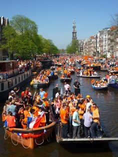Kings Day celebrations in Amsterdam.