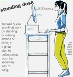 Using a standing desk at work can help improve your productivity and help escape a sedentary lifestyle.