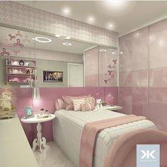 Que menina não adoraria um quarto desse?  muito amor!!! Autoria de Daniel Kroth Arquitetura | @decorcriative.  Obs: arquitetos e designer me marquem em seus projetos!!