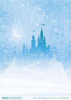 Frozen Castle Backdrop For Princess And Frozen Party Background