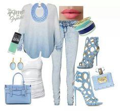 Azul y blanco hermoso