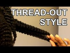 If you can't twist, give African Threading try. My hair was washed using SheaMoisture Shampoo and Deep Conditioned using SheaMoisture Hair Ma. Mixed Girl Hairstyles, African Hairstyles, Afro Hairstyles, African Threading, Hair Threading, 4b Natural Hair, Natural Hair Styles, Afro Hair Tutorial, Mixed Girls