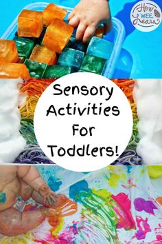 These sensory play ideas and sensory activities are absolutely perfect for toddlers to experience. Great for building language, relaxing and calming, developing fine motor skills, and lots more! Sensory Activities Toddlers, Kids Learning Activities, Toddler Learning, Sensory Bins, Sensory Play, Toddler Preschool, Early Years Teaching, Problem Solving Skills, Arts And Crafts Projects