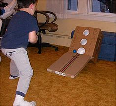Indoor skee ball! Awesome! I am going to modify it just a bit though!
