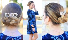 Easy Flipped Braid Updo | Prom Hairstyles