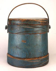 Blue Painted Firkin