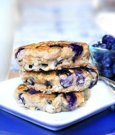 Blueberry Pie Pancakes, with over 200 positive reviews from people who have tried the recipe and loved these super-ginormous pancakes. They are a MUST-TRY recipe.