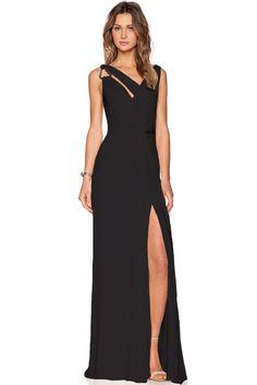Vestidos Jersey : Vestido largo con escote asimétrico