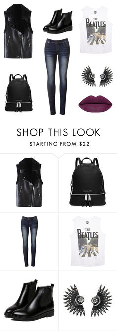 """""""Classy black"""" by pili-has ❤ liked on Polyvore featuring MICHAEL Michael Kors, Wet Seal, WithChic, women's clothing, women's fashion, women, female, woman, misses and juniors"""