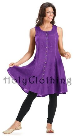Kirra Empire Waist Gypsy Flare BabyDoll Hippie Mini Sun Dress - Dresses