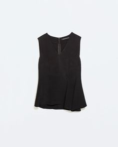 Image 6 of SEAMED SLEEVELESS TOP from Zara