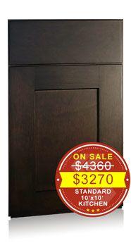 Shaker Maple Charcoal Brushed Black Glaze - Discount Kitchen Cabinets