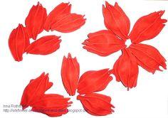 Silk Fantasy and...: Мастер-класс: Цветок из кожи/ Tutorial:Leather Flower