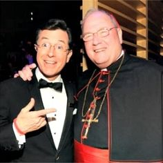 Cardinal Dolan Talks Catholicism, Humor With Stephen Colbert at Fordham - love these two Catholics!