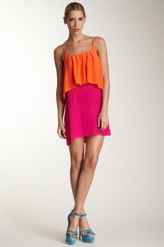Sleeveless Two Tone Dress