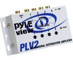PYLE PLV2 1 Into 4 Mobile Video Signal Distribution Amplifier by Pyle. $17.82. Amazon.com                This 1-into-4 distribution amplifier splits a single video signal into four signals without affecting the quality of the broadcast. The unit includes one gold-plated input jack and four gold-plated output jacks (all RCA), and offers variable video level controls for each of the signals. Users can determine the status of the 12-volt amplifier through the power-on indi...