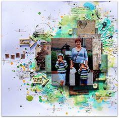 #papercraft #scrapbook #layout. Mama
