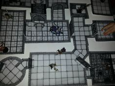 Playing with my son Erik, with his dungeon, made with Inked Adventures Tiles